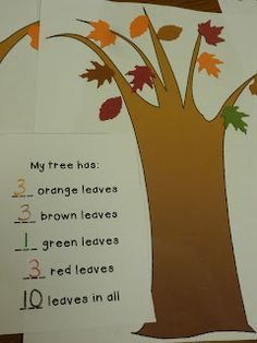 """Sped-ventures: Fall Math Centers (+ a freebie)   """"FALL morning counting activity, Winter snowflakes, spring flowers, summer fish!! """""""