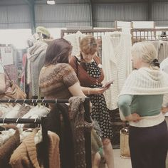Tracy at our stand at Woolfest in Cumbria - Purl Alpaca Designs
