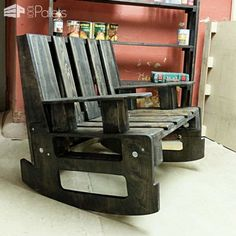 Pallet Rocking Chair Pallet Benches, Pallet Chairs & Stools