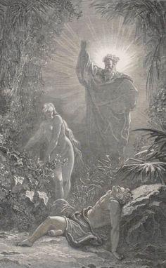 La Sainte Bible #gallica #illustrateur #illustrator #doré #bible #adam #eve