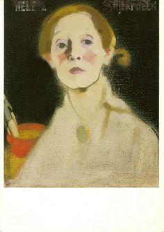Helene Schjerfbeck, self portrait.