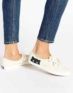 These peek-a-boo cat sneakers: I can just get white sneakers and paint them for a fraction of the price!