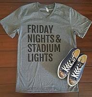 Friday Nights & Stadium Lights - Hoco Shirts - ideas of Hoco Shirts - Friday Nights & Stadium Lights Cheer Shirts, Mom Shirts, Band Shirts, Football Outfits, Football Shirts, Friday Night Lights Shirt, Football Sister, School Football, Friday Night Football