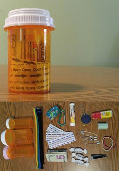 Pay It Forward Pill Bottle Pocket Provisions for the Homeless