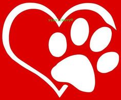 Heart and Dog Paw I Love My Dog Vinyl Car Decal by Vinyl2Envy, $3.00