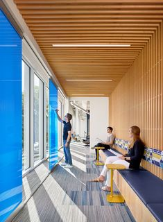 Collaborative space with writeable walls at Trend Micro's offices #officedesignsinspiration
