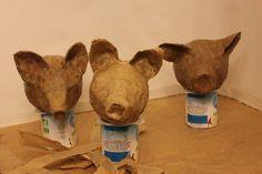 How to make papier mâché puppet heads ecologically. Marionnettes écologi...