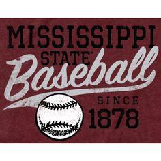 Mississippi State Bulldogs Ballpark Tri-Blend T-Shirt - Maroon Baseball T, Baseball Shirts, Mississippi State Bulldogs, Auburn Tigers, College Football, Sports, Hs Sports, Sport