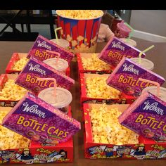 """Movie Birthday Party"" Could you buy the empty boxes from a movie theater? I wonder...."