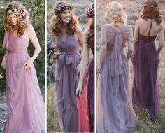 Lavender Bridesmaids Prom Ball Cocktail Party Wedding Dress Formal Evening Gown