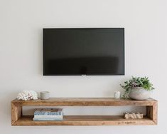 Your place to buy and sell all things handmade Wall unitwall cabinettv consolemedia unitmedia Tv Wall Shelves, Tv Wall Cabinets, Shelves Under Tv, Floating Shelf Under Tv, Floating Tv Stand, Floating Tv Console, Floating Tv Unit, Wall Cabinets Living Room, Tv Shelving
