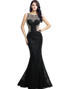 Sarahbridal Womens Lace Mermiad Prom Dress Long 2018 Sequin Beaded Evening  Ball Gowns at Amazon Women s ba66c513a