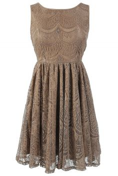Cowgirl Brown Vintage Lace Ruffle Dress | my style | Pinterest ...