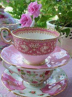 Pretty in pink tea cups