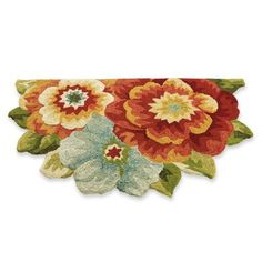 Flower Bouquet Outdoor Mat, $99 from Grandin Road.  I might NEED one of these in front of the vanity and another one in front of the shower.  Size is 48x30, which is just about right.