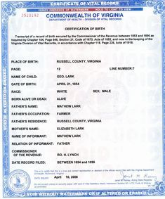 How To Get A Parent Of Your Birth Certificate