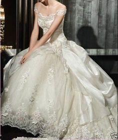 Off Ombro Tafetá Vestido De Noiva Vestido De Casamento Tamanho Personalizado 4 6 8 10 12 14 16 18 +
