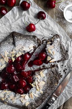 Cherry Recipe | Chocolate Cherry Galette