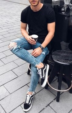 Sneakers men fashion Mens fashion Mens fashion casual Mens fashion summer Mens outfits Sneakers fashion - Great looking urban mens fashion 79000 urbanmensfashion - Summer Outfits Men, Stylish Mens Outfits, Casual Outfits, Men Casual, Summer Men, Casual Outfit For Men, Simple Outfits, Vans Outfit Men, Shirt Outfit