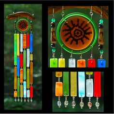 Recycled Beach Glass Inspired Wind Chimes  Warmed by sarahsnature, $82.00