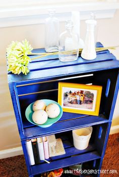 DIY Crate Bookcase - The Benson Street