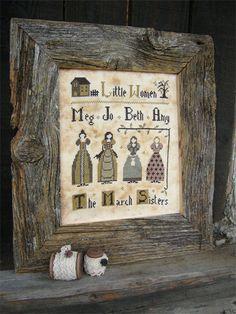 Pattern: Little Women Cross Stitch  by CottageThreadsShoppe