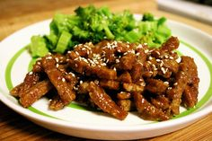 Crispy Sweet and Sour Seitan Recipe - yum! and there are several other sauce variations here too ;D