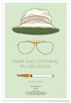 Fear and Loathing in Las Vegas-Film Poster Fear And Loathing, Vegas Tattoo, Mens Fashion Shoes, Men's Fashion, Minimal Design, Fashion Advice, Framed Prints, Framed Art, Wall Art