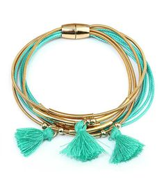 New Mint & Gold Tassel Bracelets by GlitterAndGoldLace on Etsy
