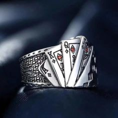 Sterling silver poker open ring Sterling silver in perfect finish Size: adjustable Comes with original gift Rings For Girls, Rings For Men, Chrome Hearts Ring, Open Ring, Jewelry Gifts, Gold Jewelry, Diamond Jewelry, Silver Pendant Necklace, Modern Jewelry