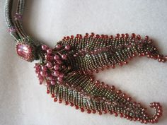 Melissa Grakowsky pattern with pearls and seed beads beaded by Sharon A. Kyser