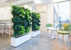 Vertical garden in your house - cool wall design ideas - Garden Design Ideas Office Interior Design, Office Interiors, Interior Livingroom, Home Garden Design, Home And Garden, Garden Web, Murs Mobiles, Room Divider Walls, Partition Walls