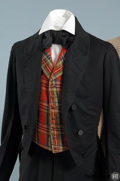 Man's suit on left (image 3) | United States | 1850 | wool | Museum at FIT | Object #: 82.33.2
