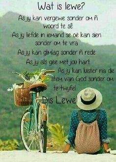 Wat is lewe? As jy kan luister na die stem van God sonder om te twyfel. Words To Live By Quotes, Wise Words, Positive Attitude, Positive Thoughts, Prayer For Husband, Evening Greetings, Afrikaanse Quotes, Perfection Quotes, Bible Quotes