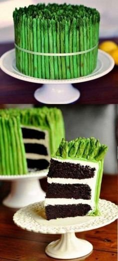 Looks like a bundle of asparagus but IT'S A CAKE!