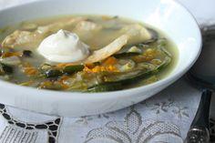 Sopa de Flor de Calabaza/Squash Blossom Soup