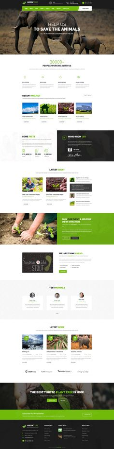Greenture is professional, modern crafted PSD template which can be used for Eco, #Environment, Nature and related to #NGO & Environment website. #psdtemplate #webdevelopment