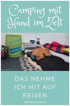 Reisenäpfe, Trinkflaschen und persönliche Wohlfühlartikel für den Hund und noch ein paar andere nützliche Dinge.