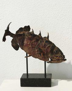 'Gregorius' Bronze, Ed.8 L. 29 cm. by Pieter Vanden Daele