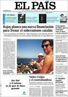 Los Titulares y Portadas de Noticias Destacadas Españolas del 31 de Marzo de 2013 del Diario El País ¿Que le parecio esta Portada de este Diario Español?
