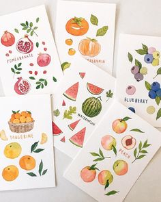 Fruit Illustration, Food Illustrations, Watercolor Illustration, Watercolor Fruit, Watercolor Paintings, Simple Watercolor, Painting Inspiration, Art Inspo, Art Sketches