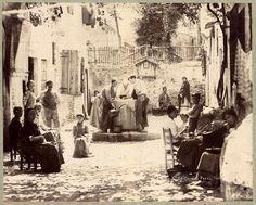 Carlo Naya #151 Venice Corte dei Preti + other large albumen photo 1870c XL150