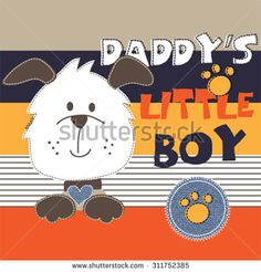 cute dog cartoon on striped background, T-shirt design vector illustration