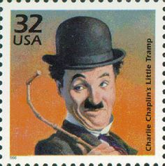 US Stamp Gallery >> Charlie Chaplin as the Little Tramp