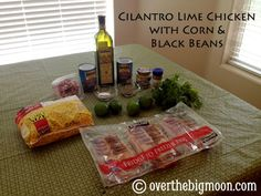 Cilantro Lime chicken with corn and black beans