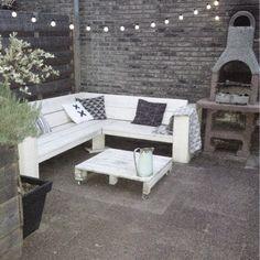 Loungebank Terrace Garden, Rooftop Terrace, Small City Garden, Dream Garden, Home And Garden, Home Decor Furniture, Garden Furniture, Outdoor Furniture Sets, Outdoor Retreat