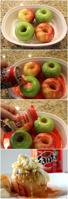 Baked apple with Fanta a la mode - an easy apple cinnamon delicous snack  #SpookySnackLab #IWorkWithCoke