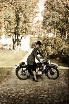 lady on a motorcycle