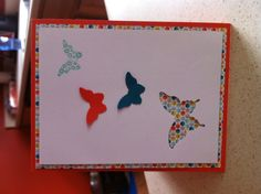 Stampin Up! Pool party tangerine tango island indigo sycamore st dsp and butterfly punches!