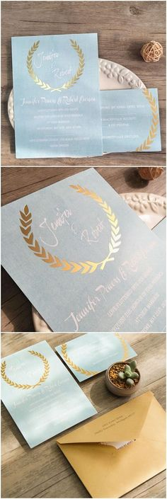 Modern chic wedding invitations from ElegantWeddingInvites